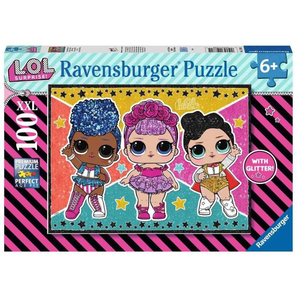 Obrázek 1 produktu Ravensburger 12881 Puzzle L.O.L. 100 dílků s glitry!