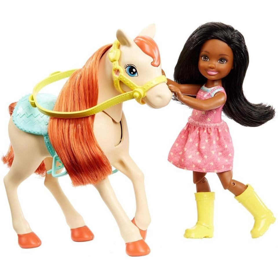 Obrázek 2 produktu Mattel Barbie Herní set s koníky brunetka, FXH16