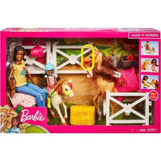 Obrázek 5 produktu Mattel Barbie Herní set s koníky brunetka, FXH16