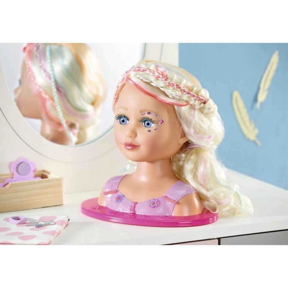 Obrázek 3 produktu Starší sestřička BABY born Česací hlava s barevnými křídami