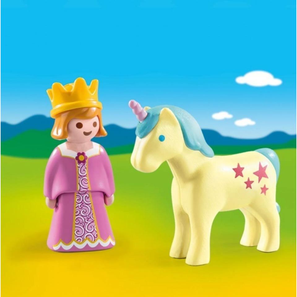 Obrázek 1 produktu Playmobil 70127 Princezna s jednorožcem (1.2.3)
