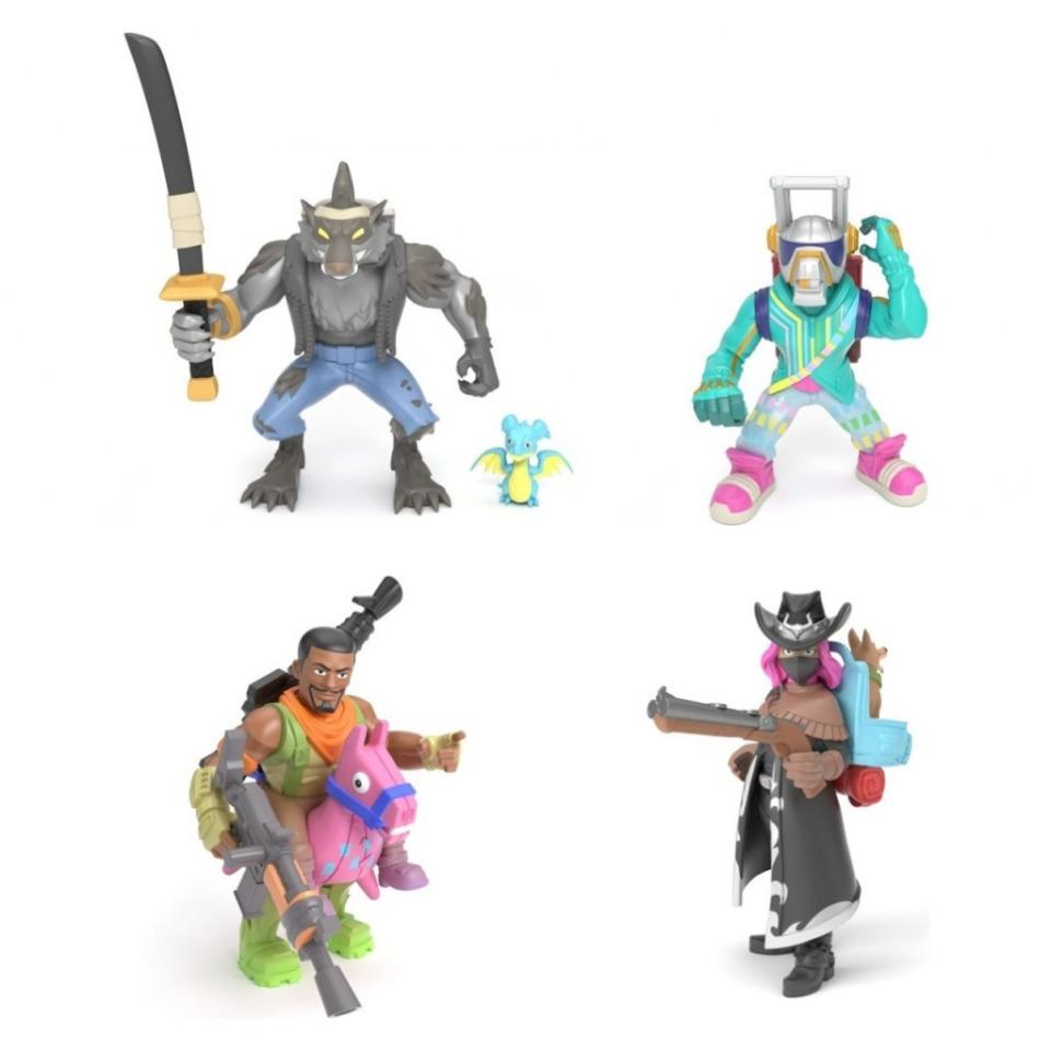 Obrázek 1 produktu Fortnite Battle Royal sada 4 sběratelských figurek: Dire, Calamity, DJ Yonder a Giddy-Up