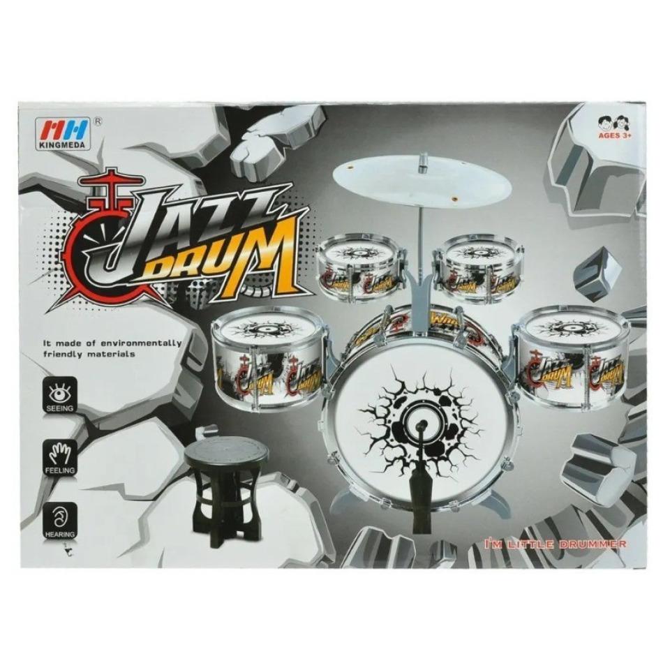 Obrázek 1 produktu Dětská sada bubnů Jazz Drum 5ks + činel, stolička a paličky