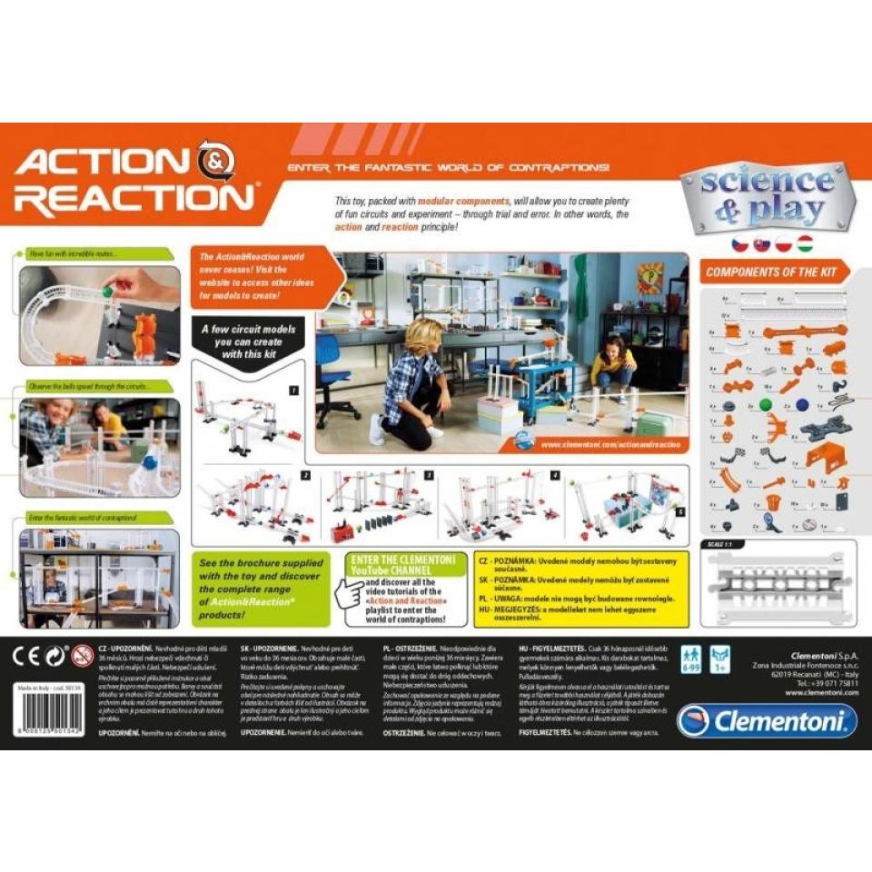 Obrázek 2 produktu Clementoni Akce a reakce Premium sada 120 dílků