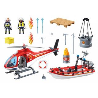 Obrázek 2 produktu Playmobil 70335 Hasiči s člunem a helikoptérou