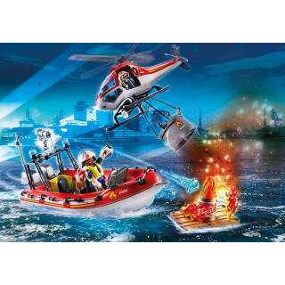Obrázek 3 produktu Playmobil 70335 Hasiči s člunem a helikoptérou