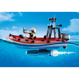 Obrázek 4 produktu Playmobil 70335 Hasiči s člunem a helikoptérou