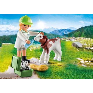 Obrázek 3 produktu Playmobil 70252 Veterinářka s telátkem