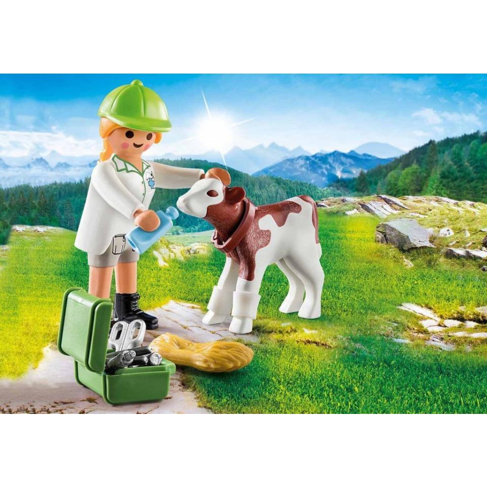 Obrázek 2 produktu Playmobil 70252 Veterinářka s telátkem