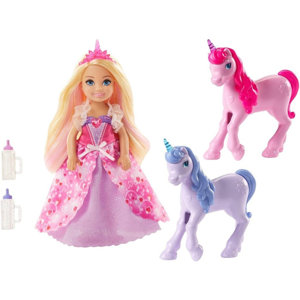 Obrázek 3 produktu Mattel Barbie Princezna Chelsea a hříbátka jednorožce, GJK17