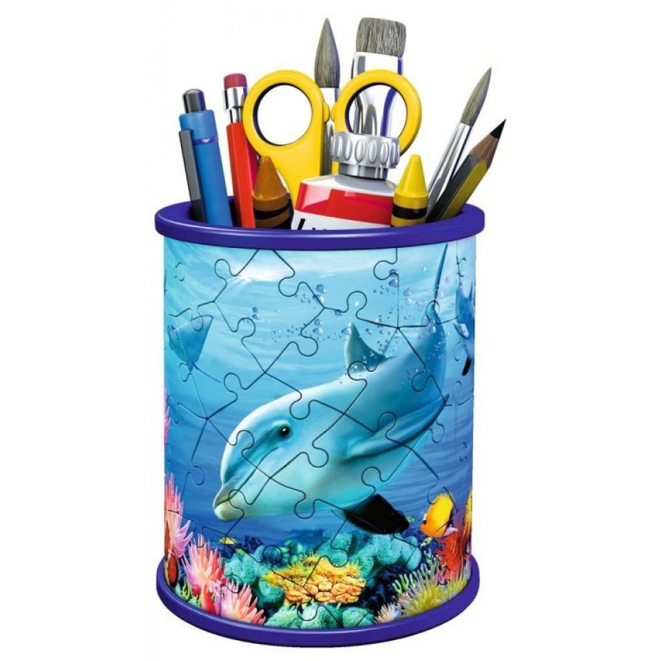 Obrázek 1 produktu Ravensburger 11176 Puzzle Stojan na tužky Podvodní svět 54 dílků
