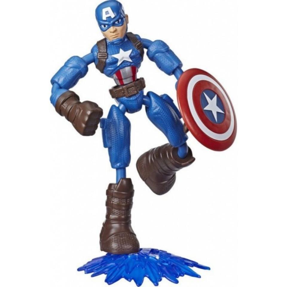 Obrázek 1 produktu Avengers figurka Bend and Flex CAPTAIN AMERICA, Hasbro E7869