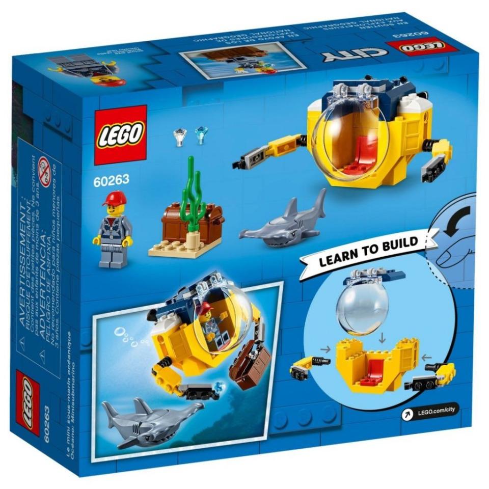 Obrázek 1 produktu LEGO CITY 60263 Oceánská mini ponorka