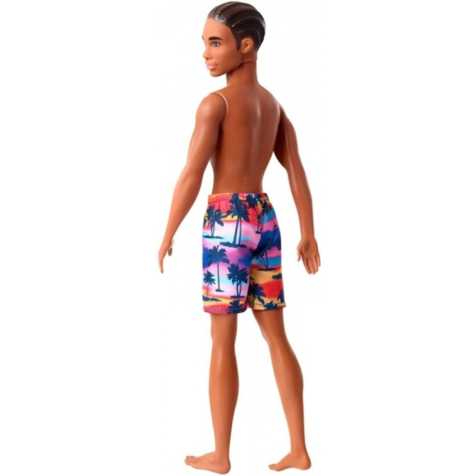 Obrázek 3 produktu Barbie Ken ve vzorovaných plavkách černoch, Mattel GHW44