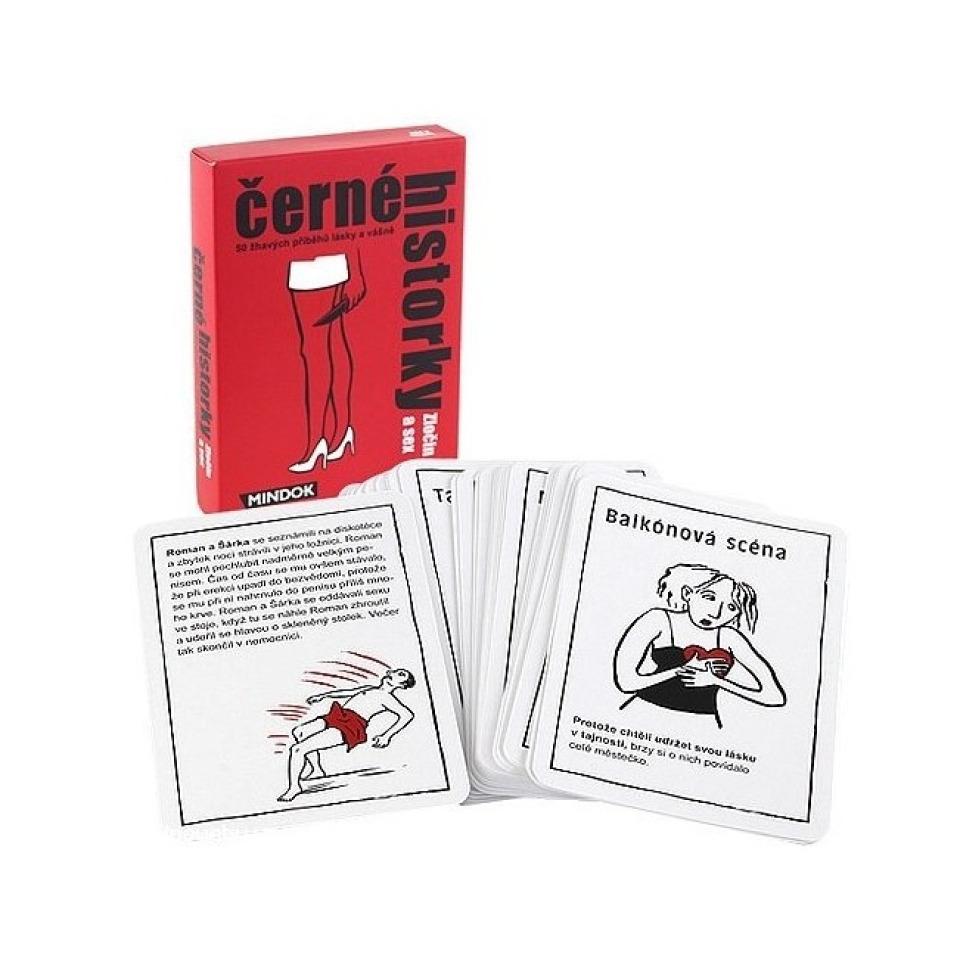 Obrázek 1 produktu Mindok Černé historky Zločin a sex, karetní hra