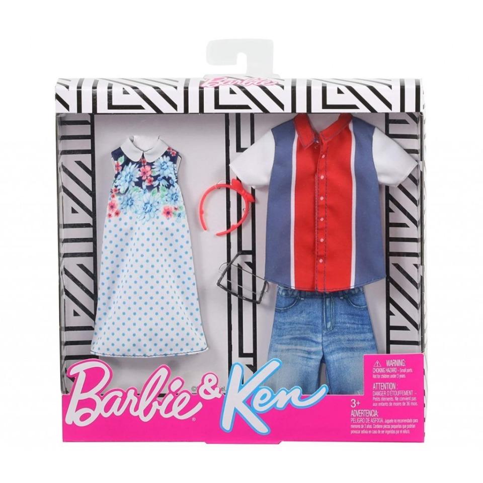 Obrázek 1 produktu Barbie Dvoudílný klasik style set Barbie a Ken, Mattel GHX69