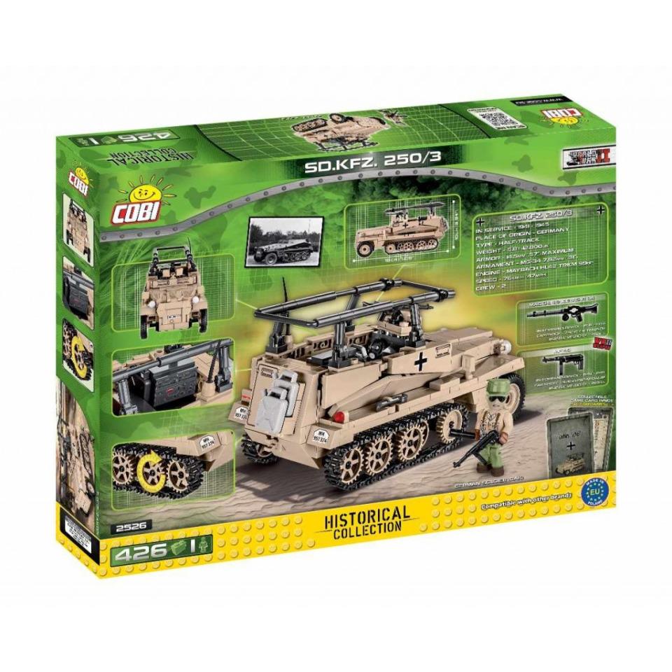Obrázek 3 produktu Cobi 2526 SMALL ARMY – Sd.Kfz 250/3 (DAK)