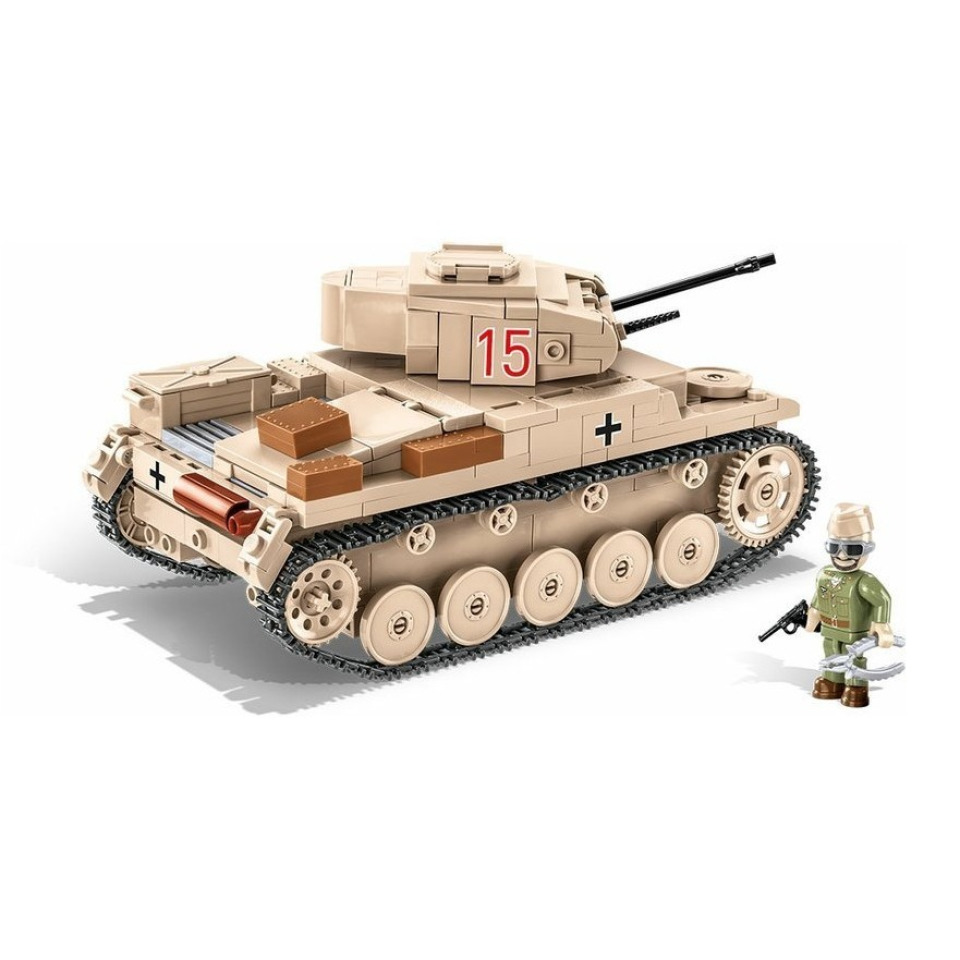 Obrázek 1 produktu Cobi 2527 SMALL ARMY – II WW Lehký tank Sd.Kfz. 121 Panzer II Ausf. F