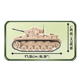 Obrázek 3 produktu Cobi 2527 SMALL ARMY – II WW Lehký tank Sd.Kfz. 121 Panzer II Ausf. F