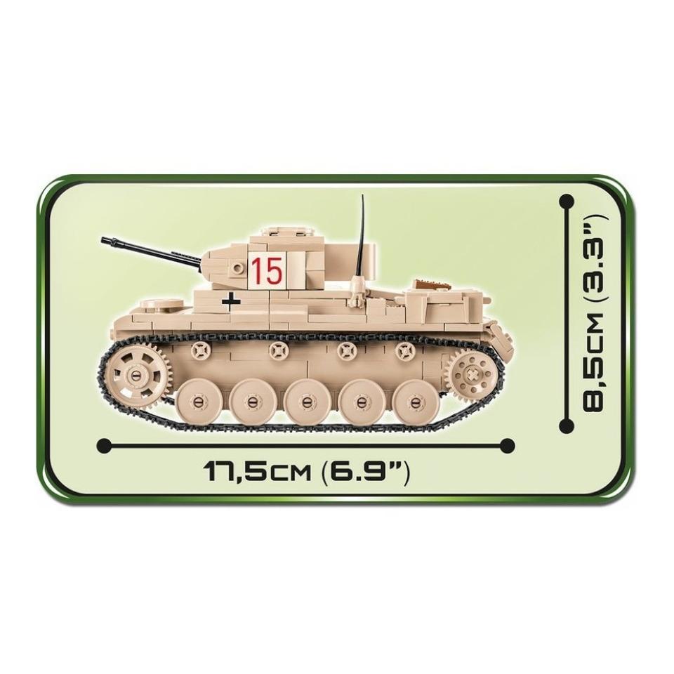 Obrázek 2 produktu Cobi 2527 SMALL ARMY – II WW Lehký tank Sd.Kfz. 121 Panzer II Ausf. F