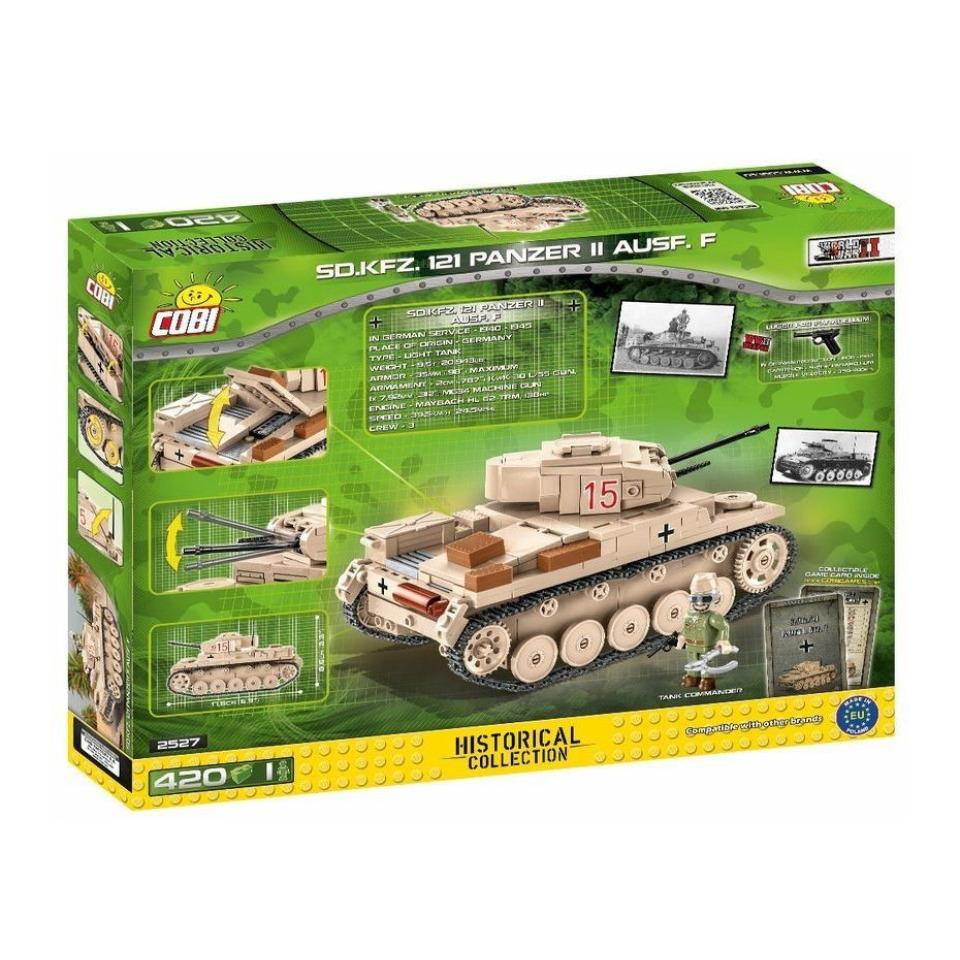 Obrázek 4 produktu Cobi 2527 SMALL ARMY – II WW Lehký tank Sd.Kfz. 121 Panzer II Ausf. F