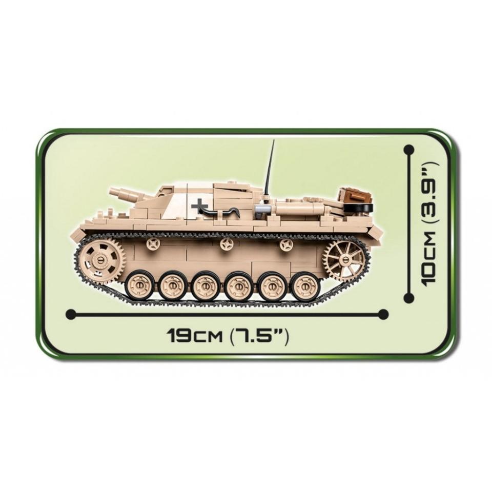 Obrázek 3 produktu Cobi 2529 SMALL ARMY – Sturmgeschütz III Ausf. D