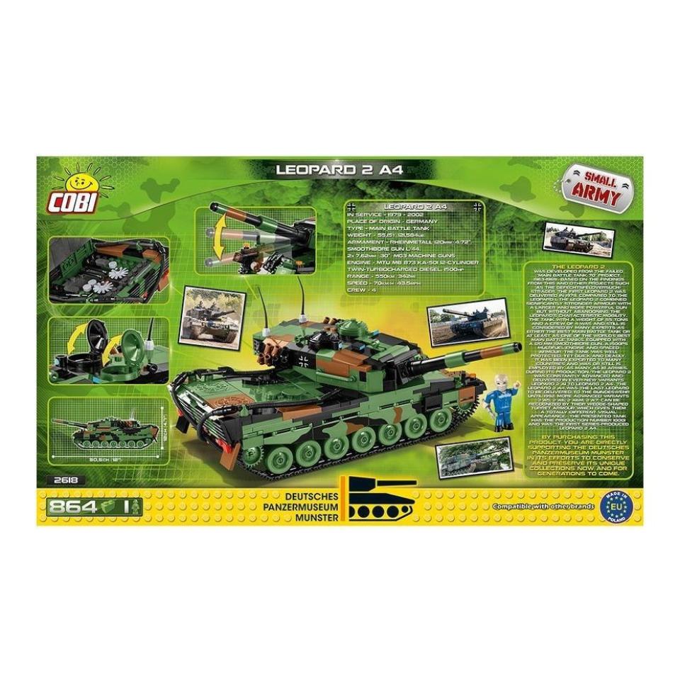 Obrázek 4 produktu Cobi 2618 SMALL ARMY – Leopard 2A4, 1 : 35