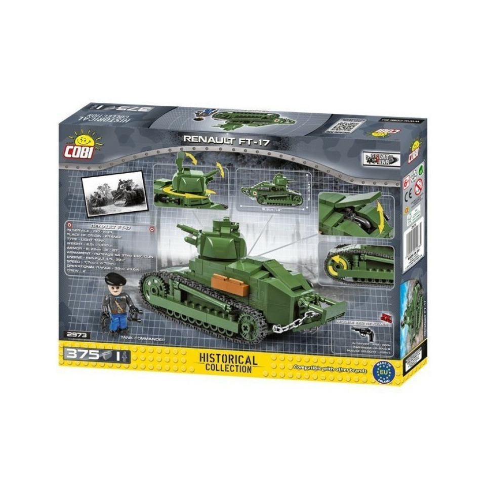 Obrázek 3 produktu COBI 2973 Great War Tank Renault FT-17