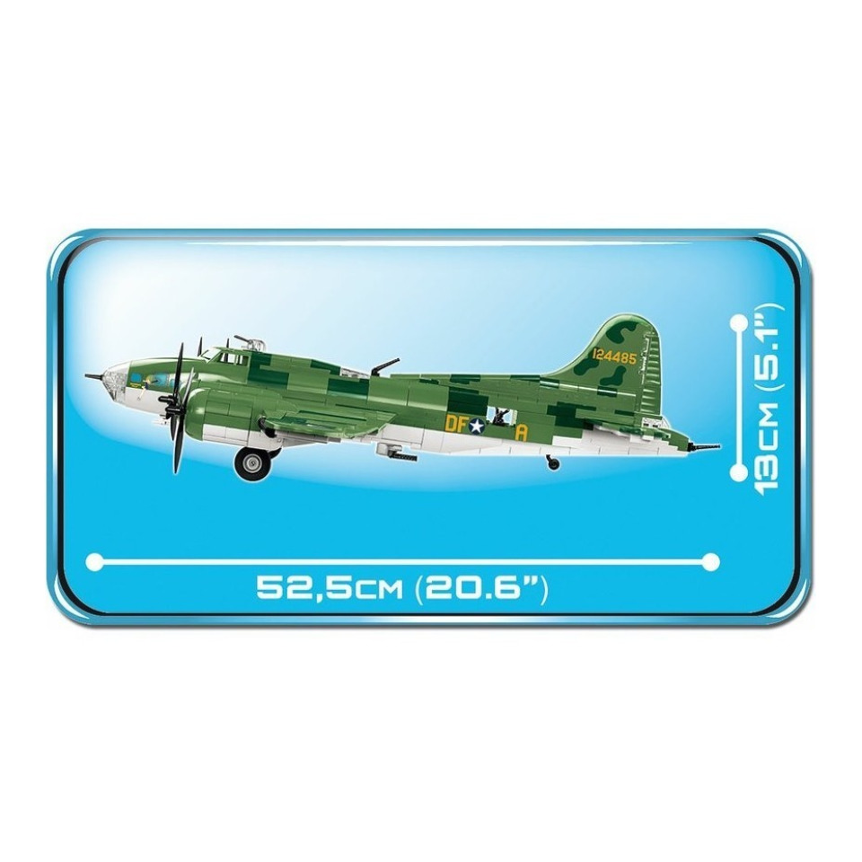"Obrázek 3 produktu Cobi 5707 SMALL ARMY – II WW Boeing B-17F Flying Fortress ""Memphis Belle"", 1 : 48"
