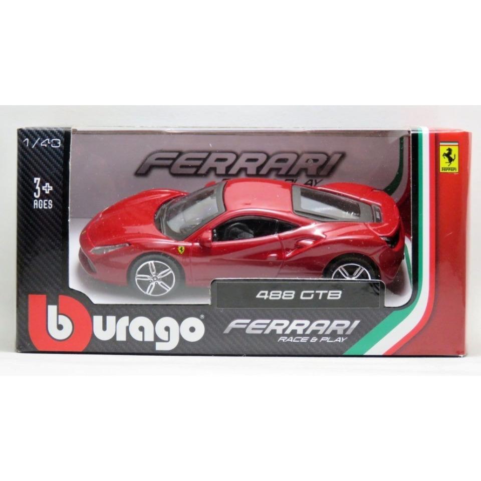 Obrázek 1 produktu Bburago FERRARI Race&Play 488 GTB 1:43