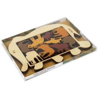 Obrázek 2 produktu RECENTTOYS Elephant Parade dřevěný hlavolam