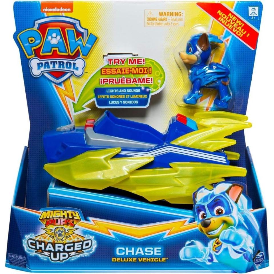 Obrázek 1 produktu Tlapková patrola Svítící vozidla hrdinů se zvuky CHASE, Spin Master 21272