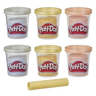 Obrázek 2 produktu Play Doh Sada 6 kelímků třpytivá zlatá, stříbrná a růžová, Hasbro E9433
