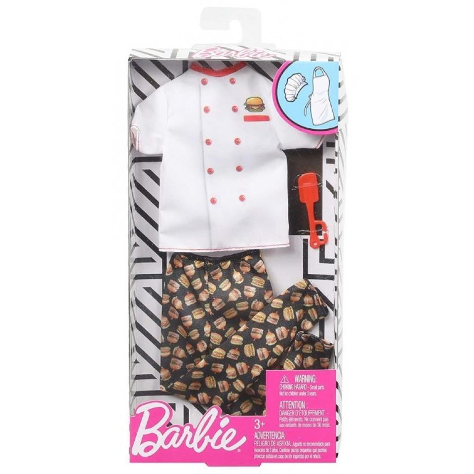 Obrázek 1 produktu Barbie Kenovy profesní oblečky - Hamburger kuchař, Mattel GHX44