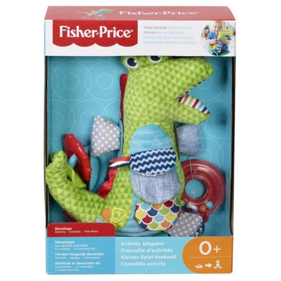 Obrázek 1 produktu Fisher Price Měkkoučký krokodýlek s aktivitami, Mattel FDC57