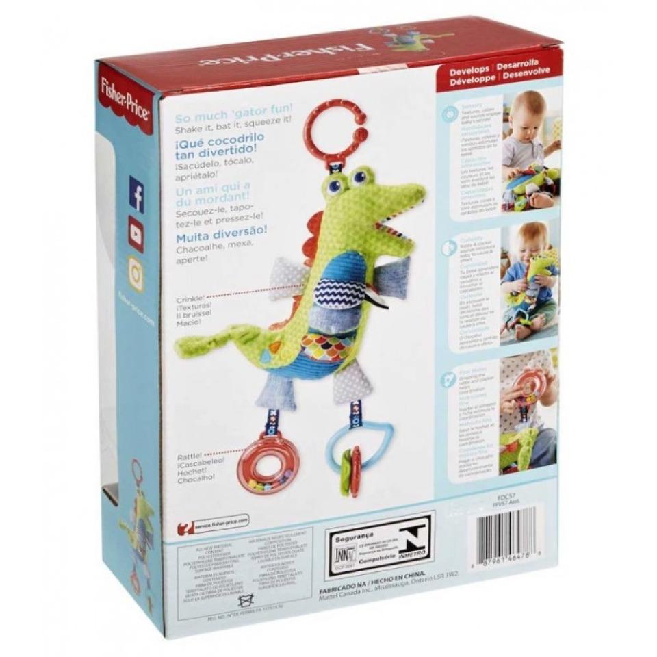 Obrázek 2 produktu Fisher Price Měkkoučký krokodýlek s aktivitami, Mattel FDC57