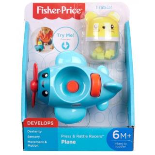 Obrázek 2 produktu Fisher Price Chrastící vozítka Modré letadýlko, Mattel FVC72