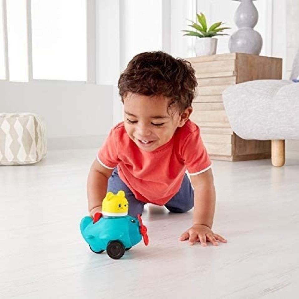 Obrázek 3 produktu Fisher Price Chrastící vozítka Modré letadýlko, Mattel FVC72