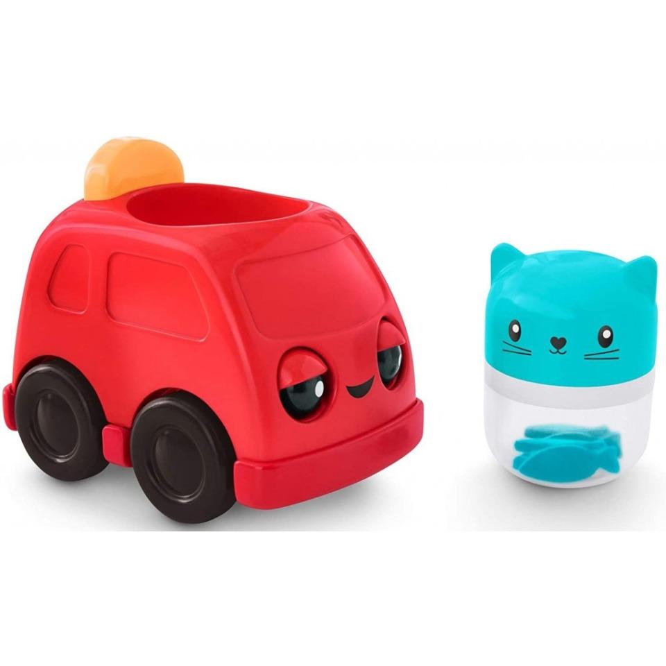 Obrázek 2 produktu Fisher Price Chrastící vozítka Červené autíčko, Mattel FNV39