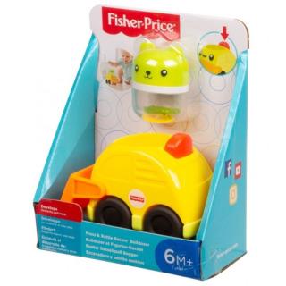 Obrázek 2 produktu Fisher Price Chrastící vozítka Žlutý bagr, Mattel FVC73