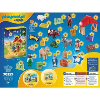 Obrázek 3 produktu Playmobil 70259 Adventní kalendář Vánoční betlém 1.2.3
