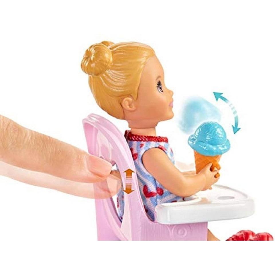 Obrázek 2 produktu Barbie Chůva herní set Zábavné krmení, Mattel GHV87