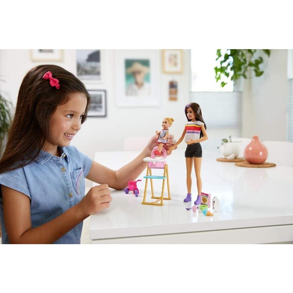 Obrázek 4 produktu Barbie Chůva herní set Zábavné krmení, Mattel GHV87