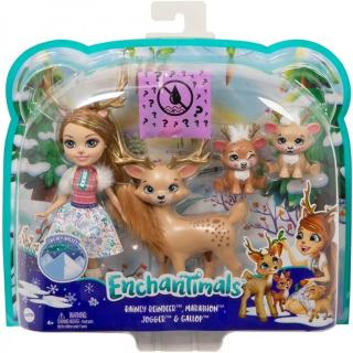 Obrázek 2 produktu ENCHANTIMALS Rodinka Rainey Reindeer s jelínky, Mattel GNP17