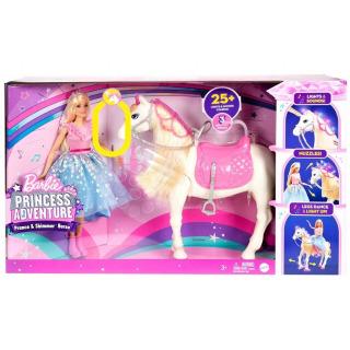 Obrázek 2 produktu Barbie Adventure Princezna a kůň s blyštivou hřívou, Mattel GML79