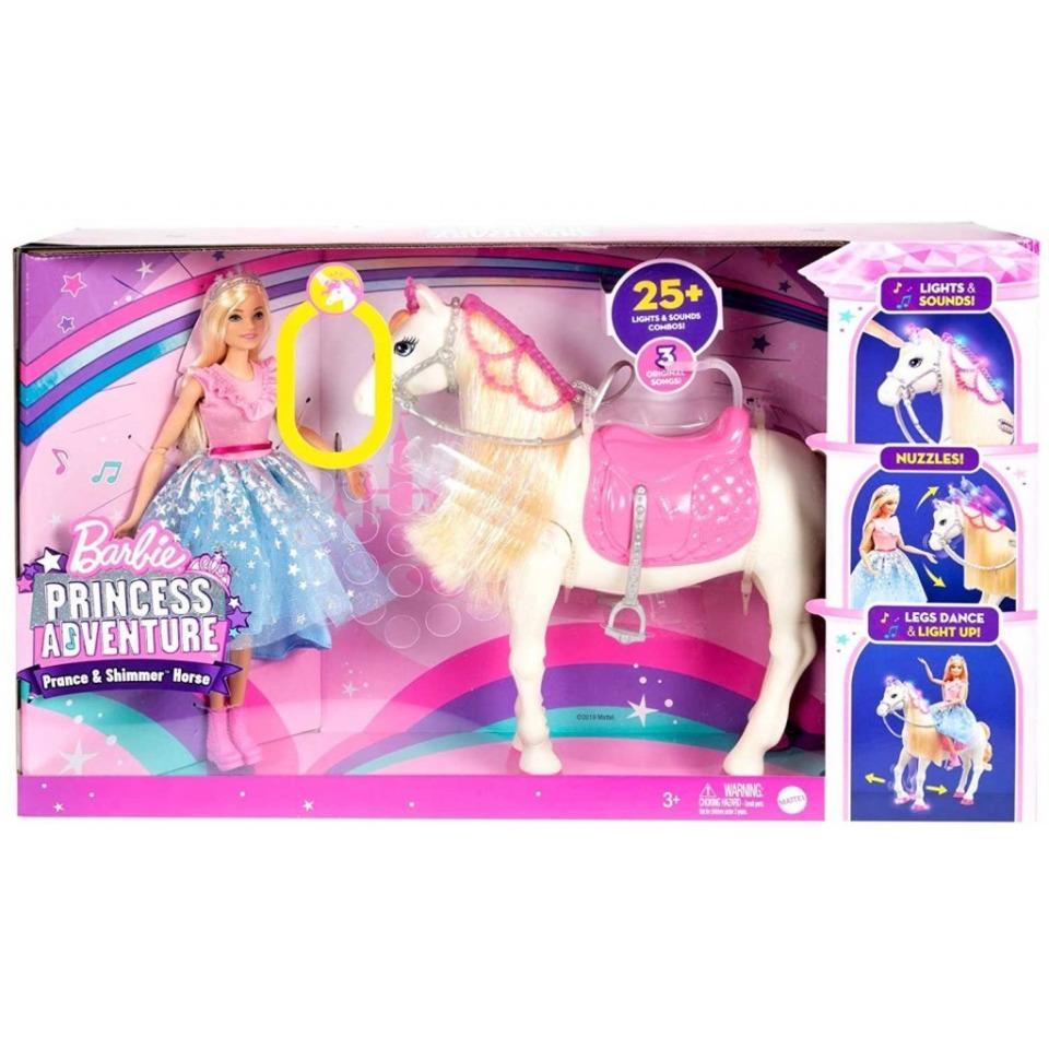 Obrázek 1 produktu Barbie Adventure Princezna a kůň s blyštivou hřívou, Mattel GML79