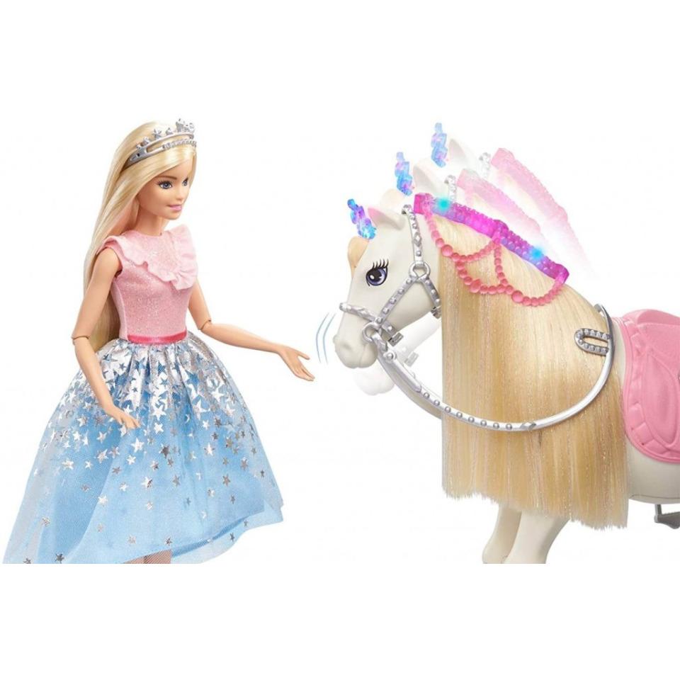 Obrázek 3 produktu Barbie Adventure Princezna a kůň s blyštivou hřívou, Mattel GML79