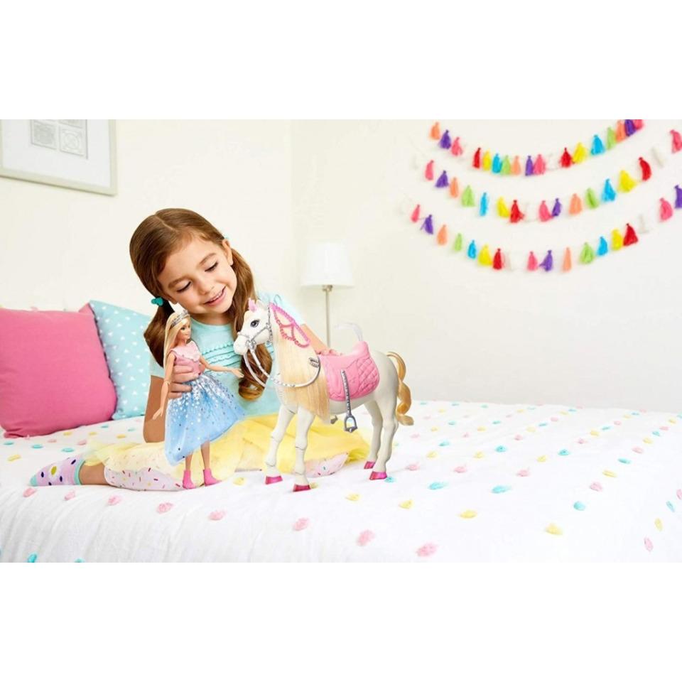 Obrázek 4 produktu Barbie Adventure Princezna a kůň s blyštivou hřívou, Mattel GML79