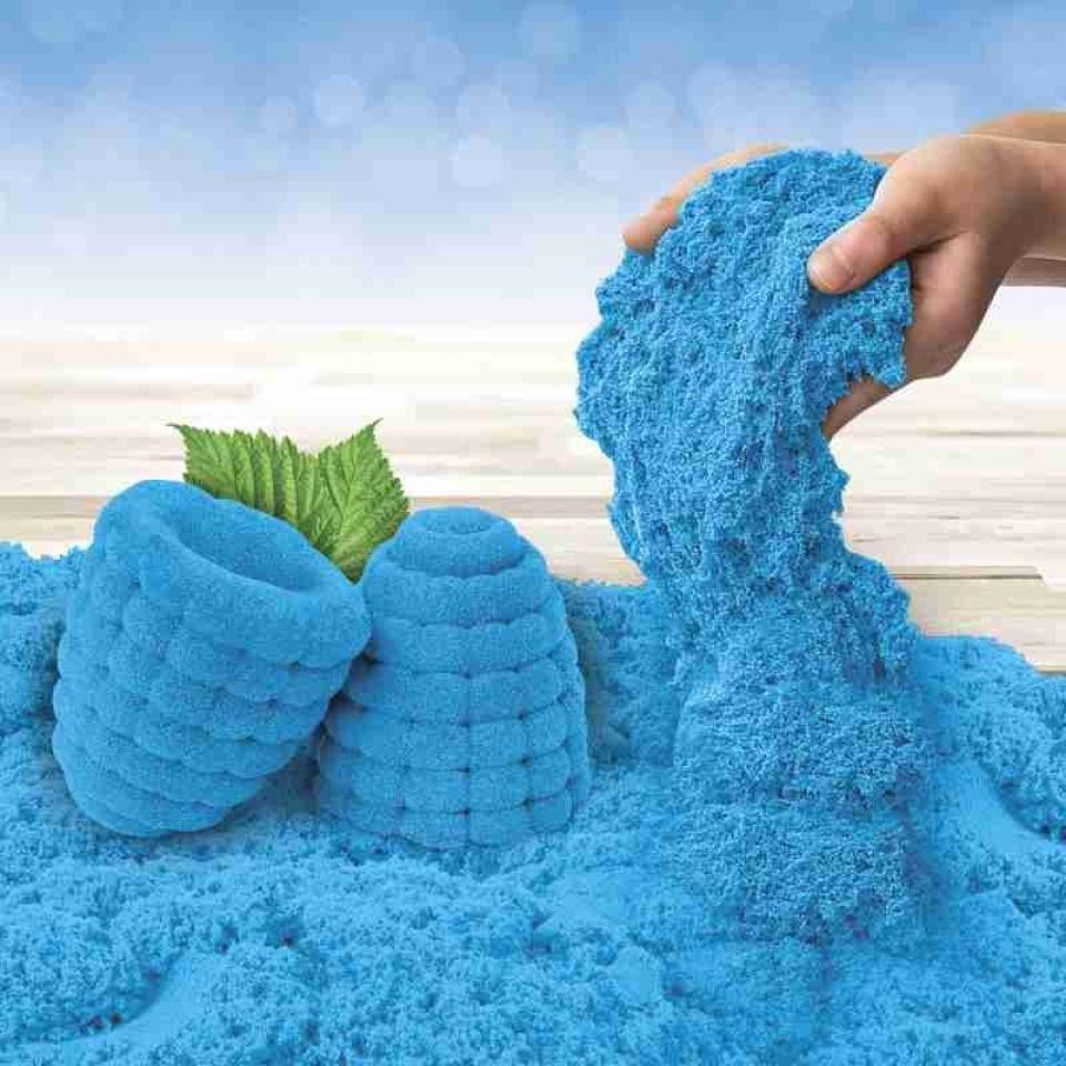 Obrázek 1 produktu Kinetic Sand Kinetický písek voňavý Razzleberry (Maliny a černý rybíz) 227g