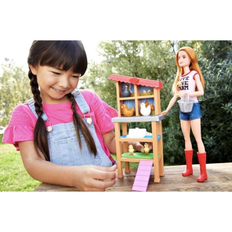 Obrázek 3 produktu Barbie Povolání herní set Chovatelka kuřat, Mattel FXP15